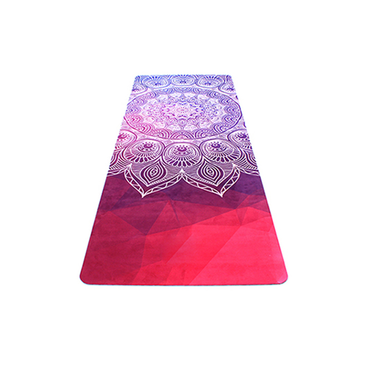 Custom Eco Friendly Digital Printed Suede Rubber Yoga Mat